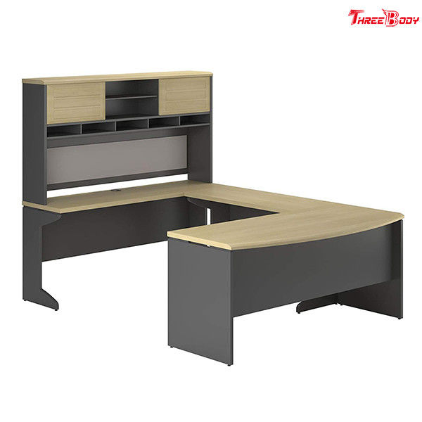L Shaped Corner Office Desk , Home Office Modern Corner Computer Desk