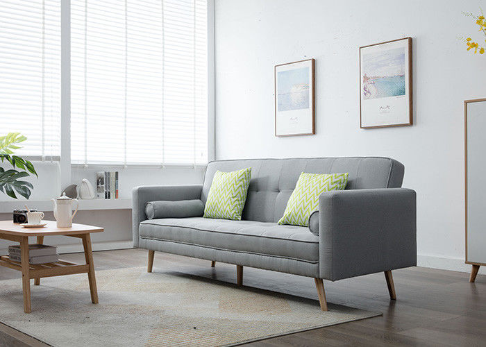 Light Grey Modern Bedroom Furniture Armless Burlap Fabric Living Room Sofa