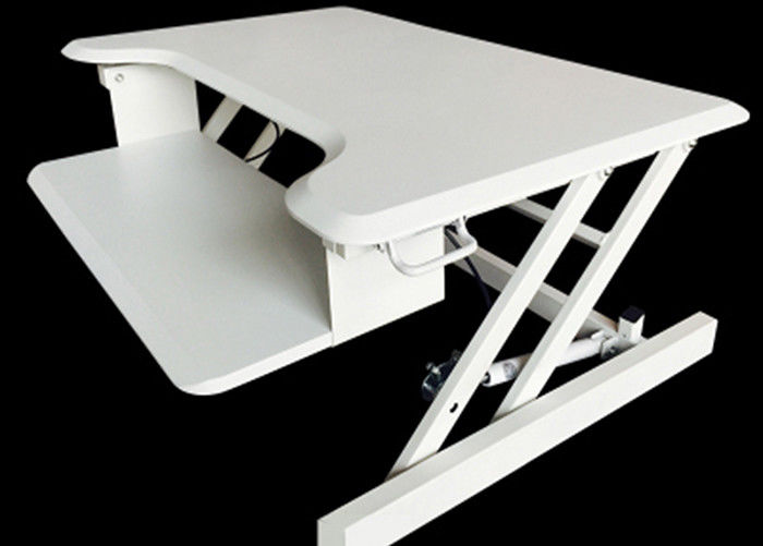 Ergonomic Techniques Modern Computer Desk 800 * 520mm In Black / White